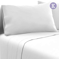 4pc King Size Soft Microfibre Sheet Set in White