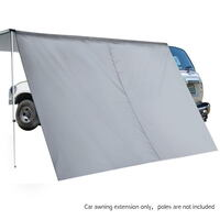 Car Awning Extension w/ Ground Pegs & Strings Grey