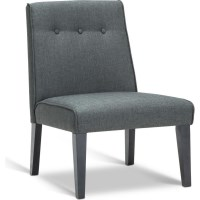 Elegant Polyester Fabric Lounge Chair in Grey