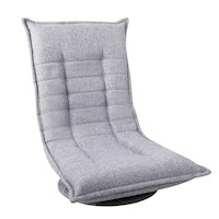 360 Degree Swivel Foldable Floor Chair in Grey