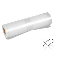 2pc PE and Nylon Food Sealer Rolls - 6m by 20cm