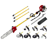 Giantz 9in1 Gardening Tool Set with Safety Kit 75cc