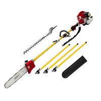 2in1 Giantz Gardening Pole Saw & Hedge Trimmer 75cc