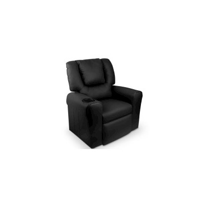 Kids PU Leather Recliner Chairs w/ Cup Holder