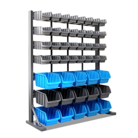 Adjustable Bin Garage Storage Rack with 47 Shelves