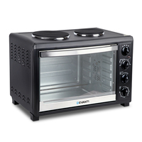 Convection Oven with Hotplates on Top in Black 45L