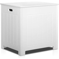 Home Laundry Storage Box w/ Rounded Edges in White