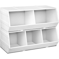 Stackable Storage Rack Unit w/ Round Edges in White