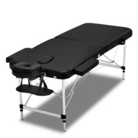 Wide Portable Vinyl Massage Table in Black 75cm