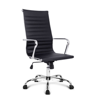 Stylish Eames Replica PU Leather Office Chair Black