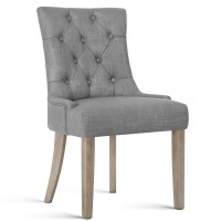 French Provincial Polyester Dining Chair in Grey