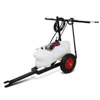Weed Sprayer Tank w/ Pump  Hose  Gun & Trailer 60L