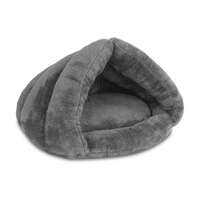 Ultra-Soft Cave Style Pet Bed for Cats & Dogs Grey