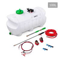 ATV Weed Sprayer with 3 Nozzles 80psi & 100L Tank