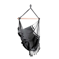 Outdoor Polyester Cotton Hammock Chair Swing - Grey