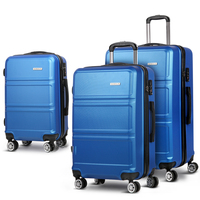 3pc Hard Shell Travel Luggage Suitcase Set in Navy