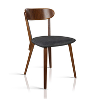 2x Curved Back Modern Dining Chairs in Charcoal