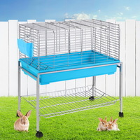 Medium Sized Guinea Pig Rabbit Hutch with Stand