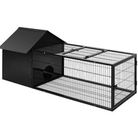 Large Sized Guinea Pig Rabbit Hutch with Run