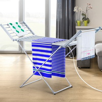 Electric Free Standing Folding Heated Clothes Rack