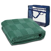 Heavy Duty PVC Ground Annex Matting in Green 6x2.5m