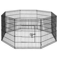 8 Panel Steel Foldable Pet Playpen Enclosure 30inch