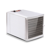 Stainless Steel Food Dehydrator with 10 Trays 650W