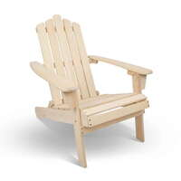 Hemlock Wood Foldable Outdoor Adirondack Deck Chair