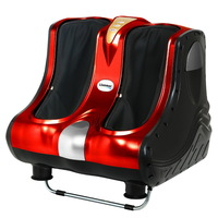 4 Motor Electric Calf & Foot Massager in Red 80W