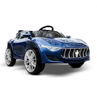 Kids Electric Musical Ride On Sports Car in Blue