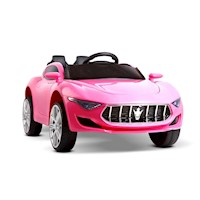 Kids Musical Electric Ride On Sports Car in Pink