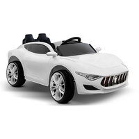 Kids Musical Electric Ride On Sports Car in White