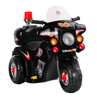 Kids Electric Ride On Police Motorbike in Black