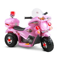 Kids Electric Ride On Police Motorbike in Pink