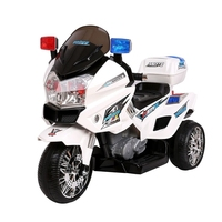 Kids Electric Ride On Police Motorbike in White
