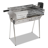 Stainless Steel BBQ Spit Roaster with Rotisserie 3V
