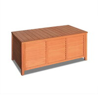 Fir Wood Outdoor Storage Box Bench 104 x 45cm