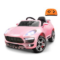 Kids Ride On Car with Remote in Lacquered Pink 50W