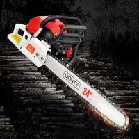 Giantz 92cc Petrol Chainsaw w Safety Kit 24in 6.8HP