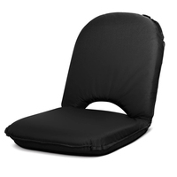 Foldable Fabric Padded Beach Picnic Seat in Black