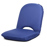 Foldable Fabric Padded Beach Picnic Seat in Navy