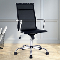 Replica Eames High Back Mesh Office Chair in Black