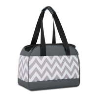 Water Resistant Portable Fabric Pet Carrier in Grey