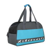Water Resistant Portable Fabric Pet Carrier in Blue