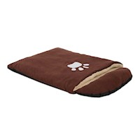 Small Faux Suede and Fleece Pet Sleeping Bag Bed