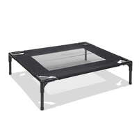 Small Fabric & Mesh Pet Dog Trampoline Bed in Black