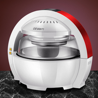 Devanti 13L Air Fryer Oven Cooker - White and Red