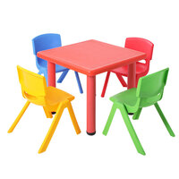 9101b610f3a25 Keezi 5 Piece Kids Table and Chair Set - Red