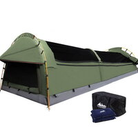 Celadon Canvas Swag with Camping Air Pillow