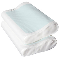 2x Cool Gel Top Memory Foam Pillow